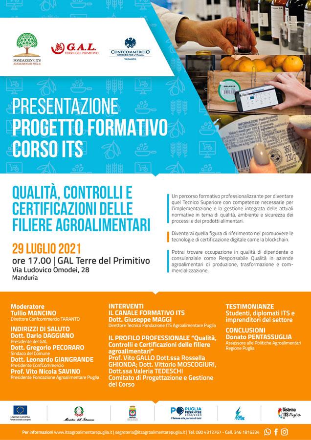Presentazione Progetto Formativo Corso ITS